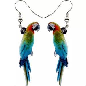 BOGO! Rainbow Macaw Parrot Earrings Acrylic